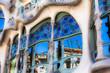 Leinwanddruck Bild - Casa Battlo designed by Antoni Gaudi,Barcelona, Spain