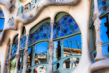 Casa Battlo designed by Antoni Gaudi,Barcelona, Spain