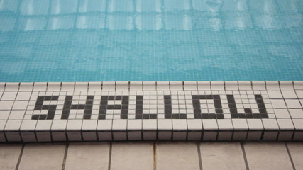 Shallow end. Shallow end of the pool.