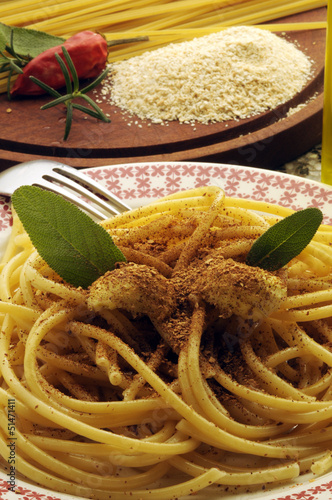 Bucatini with toasted breadcrumbs