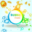 Abstract colorful bubble frame