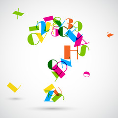 Question Mark with Colorful Alphabet