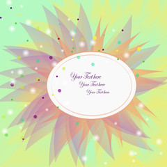 Spring vector background with pink frame