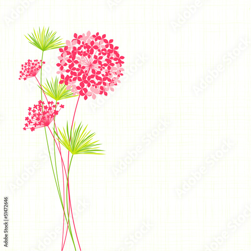 Springtime Hydrangea Flower Background