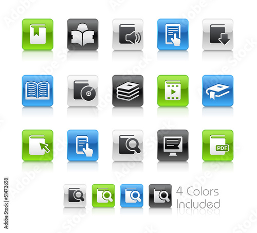 Books / The vector includes 4 colors in different layers