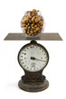 Jar of nuts on scale