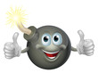Cartoon bomb man