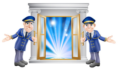 VIP doormen and entrance door