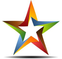 Color origami star