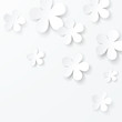 vector paper floral background