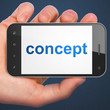 Advertising concept: Concept on smartphone