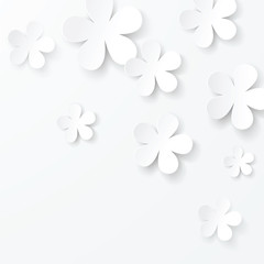 vector paper floral background
