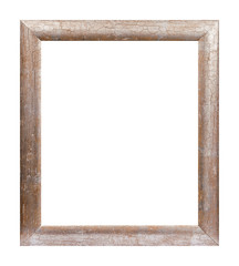 Rusty wooden picture frame