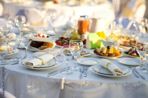 Papiers peints Table preparee Wedding table