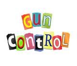 Gun control concept. poster