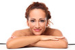Beautiful middleaged woman with makeup