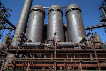 Steel mill silos