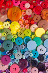 Rainbow coloured buttons