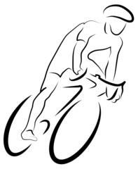 Radfahrer im Sprint - Rennrad - Radsport