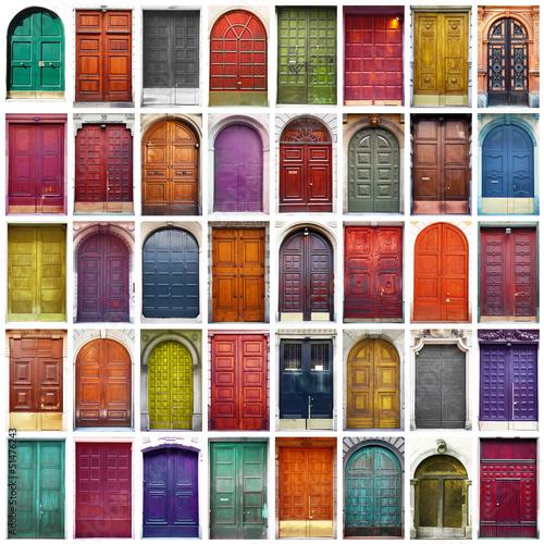 Bramy i drzwi kolaż