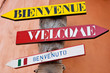 Bienvenue Welcome Benvenuto