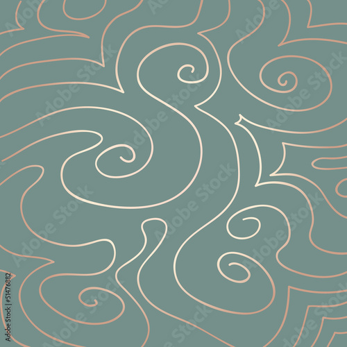 Pastel Swirls Pattern on Duck Egg Blue