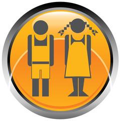 Logo icona bambino bambina