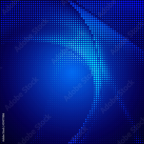 Abstract halftone lighting effects background