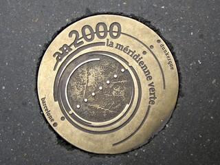Méridienne verte, symbole de rue pour l'an 2000 (Paris, France)