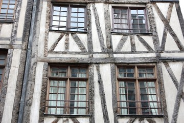 Half-timbered house, timber framing construction