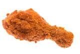 Ein einzelnes gebackenes Hühnerbein