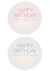 Etichette Happy Birthday