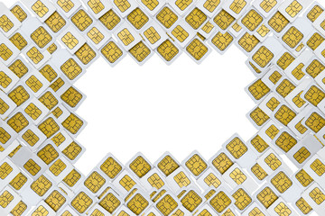 SIM card border, isolated