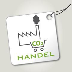Emissionshandel, co2 Handel, Preisschild, Etikett, grün