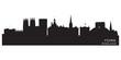 York England city skyline Detailed vector silhouette