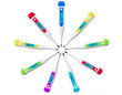 Multicolored Digital clinical thermometers