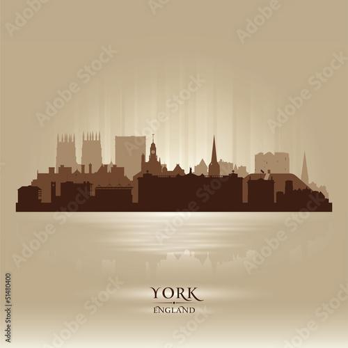 York England city skyline silhouette