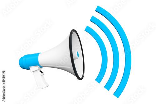 Blue Retro megaphone
