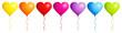 Border 7 Balloons Hearts Color