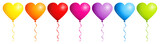 Border 7 Balloons Hearts Color