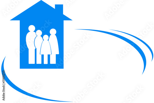 family icon with place for text