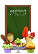 Cupcake, Muffin, Eis und Tafel