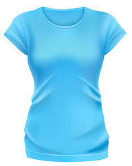 Woman blue t-shirt template