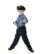 Little Cop with Flashlight