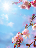 Fototapety abstract floral spring background