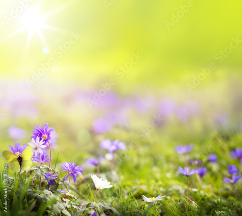 art abstract spring green background
