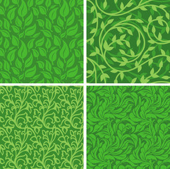 Vector seamless backgrounds with  leaves