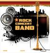 Rock music background - concert wallpaper