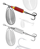 Vector illustration of artificial fishing lure
