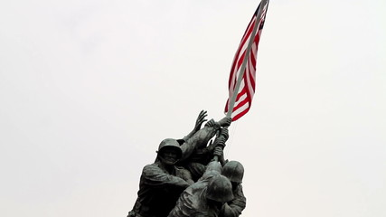 Iwo Jima Memorial Front facing shot of the memorial